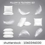 fluffy feathers and white... | Shutterstock .eps vector #1060346030