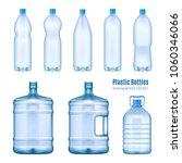 plastic water bottles realistic ... | Shutterstock .eps vector #1060346066