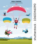 parajumping poster with... | Shutterstock .eps vector #1060346090