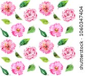 seamless floral background.... | Shutterstock . vector #1060347404