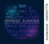 eyeglasses round colorful... | Shutterstock .eps vector #1060347776