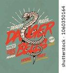 snake. illustration tee design.   Shutterstock .eps vector #1060350164