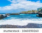 view of puerto de la cruz and... | Shutterstock . vector #1060350263