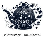 tea party vintage illustration... | Shutterstock .eps vector #1060352960