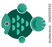 design fish with green circle... | Shutterstock .eps vector #1060353533