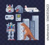 Japan Pixel Art Icons Set Part...