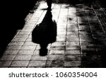 blurry shadow and silhouette of ...   Shutterstock . vector #1060354004