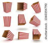 Empty Popcorn Box Set Isolated...
