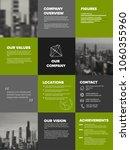 company profile template  ... | Shutterstock .eps vector #1060355960