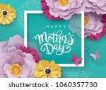 happy mother's day greeting... | Shutterstock .eps vector #1060357730