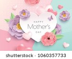 happy mother's day greeting... | Shutterstock .eps vector #1060357733