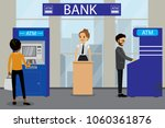 different people and atm bank... | Shutterstock .eps vector #1060361876