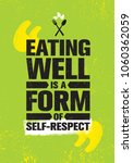 eating well is a form of self... | Shutterstock .eps vector #1060362059