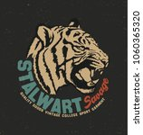 Tiger  Typography  Tee Shirt...