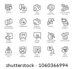 set of 20 line icons isolated... | Shutterstock .eps vector #1060366994