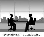 job interview between the... | Shutterstock .eps vector #1060372259