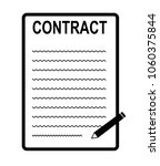 contract icon on white... | Shutterstock .eps vector #1060375844