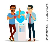 water cooler gossip vector.... | Shutterstock .eps vector #1060379696