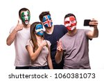 group of fans suport their... | Shutterstock . vector #1060381073