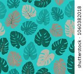 vector tropical pattern with... | Shutterstock .eps vector #1060382018