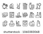 vector set of linear icons on...