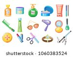 set of women accessories ... | Shutterstock .eps vector #1060383524