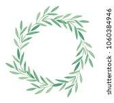 watercolor hand drawn wreath... | Shutterstock . vector #1060384946