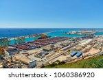 barcelona. view of the seaport... | Shutterstock . vector #1060386920
