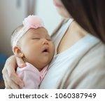 adorable little baby on... | Shutterstock . vector #1060387949