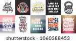 set of vector motivational and... | Shutterstock .eps vector #1060388453