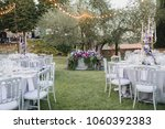 in the wedding banquet area on... | Shutterstock . vector #1060392383