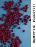 delicious fresh raspberries on...   Shutterstock . vector #1060395854