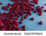 delicious fresh raspberries on...   Shutterstock . vector #1060395860