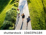 young athtletes in the city... | Shutterstock . vector #1060396184