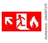 emergency fire exit door and... | Shutterstock .eps vector #1060397279