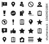 flat vector icon set  ...   Shutterstock .eps vector #1060401884