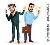 boss shouting on phone vector.... | Shutterstock .eps vector #1060402076