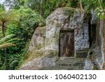 gunung kawi  temple and... | Shutterstock . vector #1060402130