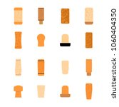 16 types of cork stoppers set... | Shutterstock .eps vector #1060404350