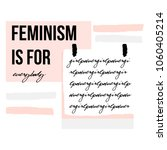 abstract creative feminism... | Shutterstock .eps vector #1060405214