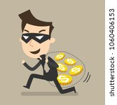 thief steals money under a mask ... | Shutterstock .eps vector #1060406153
