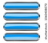 rectangle blue buttons set with ...   Shutterstock . vector #1060408070