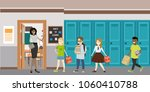 cartoon female teacher and... | Shutterstock .eps vector #1060410788