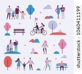 vector background in flat... | Shutterstock .eps vector #1060411199