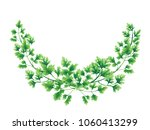 semicircle wreath of parsley... | Shutterstock . vector #1060413299
