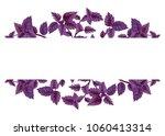 illustration of red basil in... | Shutterstock . vector #1060413314