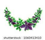 semicircle wreath of parsley... | Shutterstock . vector #1060413410