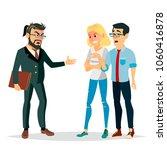 angry boss man vector. screams  ... | Shutterstock .eps vector #1060416878