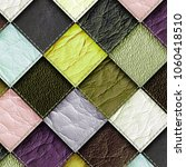 leather patchwork background ... | Shutterstock . vector #1060418510