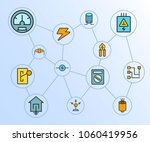 electricity and tools network... | Shutterstock .eps vector #1060419956